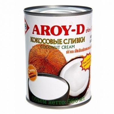 """Сливки кокосовые 70% """"AROY-D"""""""