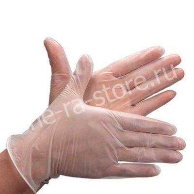 Перчатки виниловые 100 шт