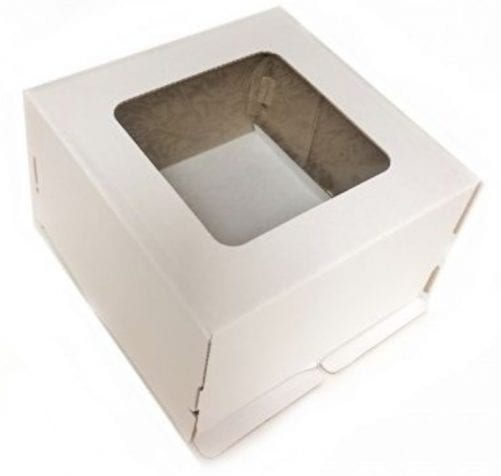 Коробка для торта усиленная 30/30/19 см с окном