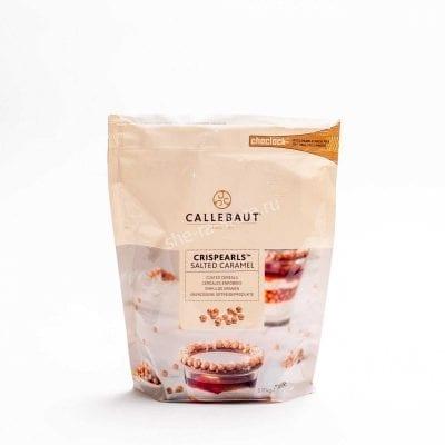 Карамельные жемчужины с хрустящим слоем Crispearls Salted Caramel