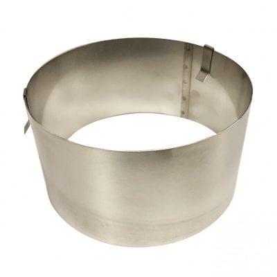 Раздвижная форма (кольцо) для выпечки и сборки, высота 10см