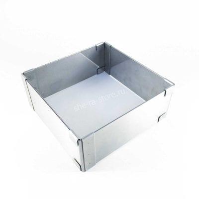 Раздвижная форма для выпечки квадратная (высота 5см)