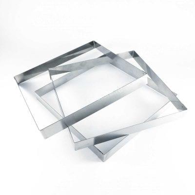 Форма для выпечки Квадрат 16 см х 16 см, высота 2 см, нержавеющая сталь