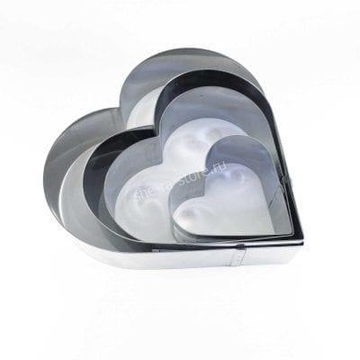 Форма сердце металлическое