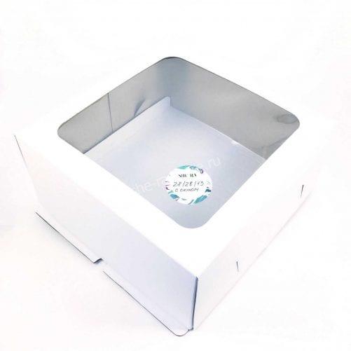 Коробка для торта 28/28/13 см с окном