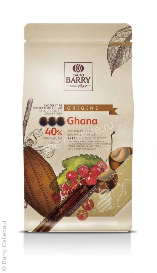 Шоколад молочный Cacao Barry Ghana