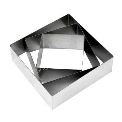 Форма для выпечки квадрат металлический (высота 5см)