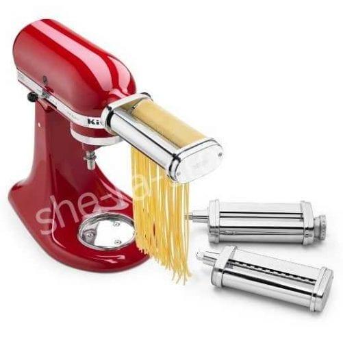 Насадка ножи роликовые для раскатки теста и нарезки спагетти, феттучини для миксеров KitchenAid