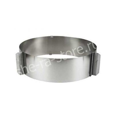 Раздвижная форма (кольцо) для выпечки и сборки, высота 5см