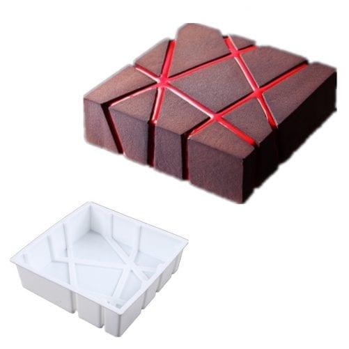 Форма силиконовая для евротортов Chocolate block (Шоколадный блок)