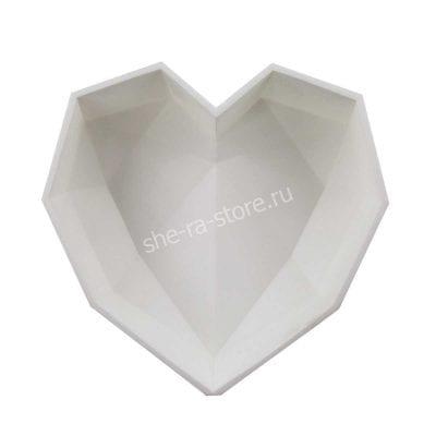 Форма силиконовая для евротортов Angular Heart (Кристальное сердце)