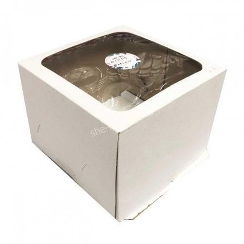 Коробка для торта 21/21/15 см с окном