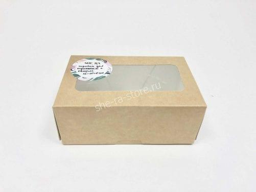Коробка для пирожных с окном