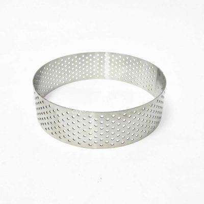Кольцо перфорированное для тартов и тарталеток диаметр 14 см, высота 4 см, нержавеющая сталь