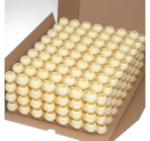 Капсулы для трюфелей из белого шоколада Callebaut