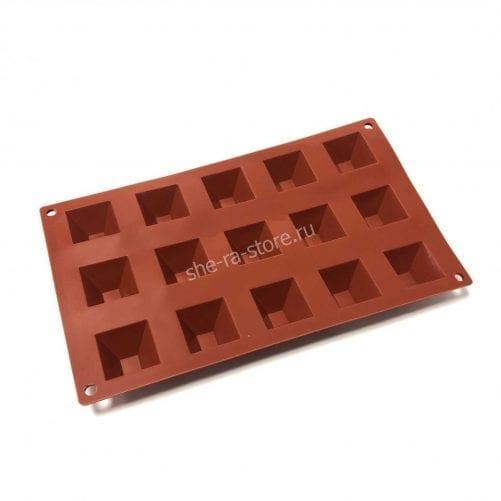 Силиконовая форма для муссовых пирожных пирамида