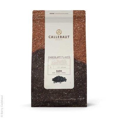 Шоколадные хлопья тёмные большие Callebaut