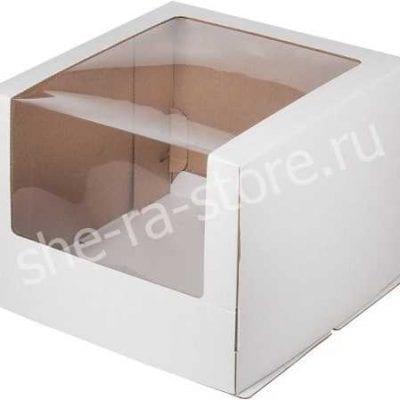 коробка для торта с увеличенным окном
