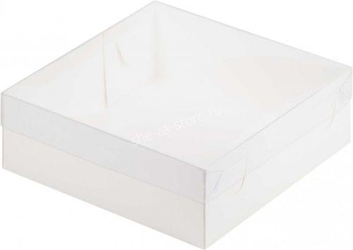 коробка для пирожных с пластиковой крышкой