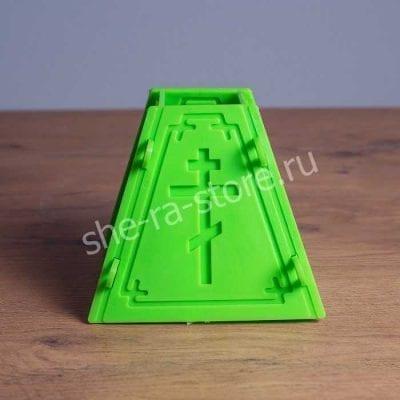 Форма для изготовления творожной пасхи зеленая