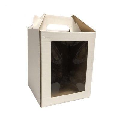 Коробка для кулича с окном и ручкой