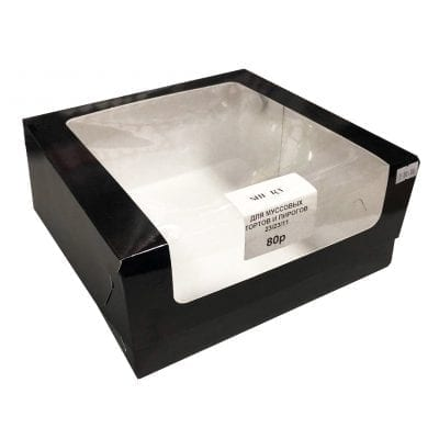 Коробка с увеличенным окном для муссовых тортов и пирогов