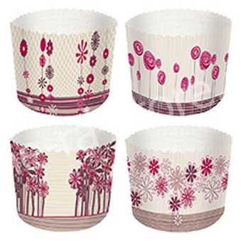 Форма бумажная для кекса Полевые цветы