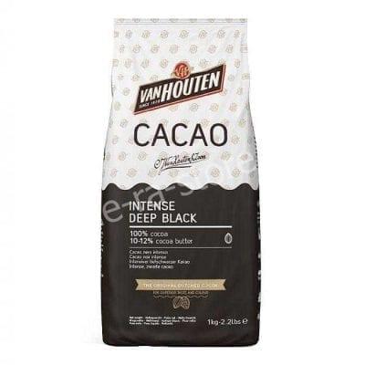 Чёрный какао-порошок Intense Deep Black Van Houten