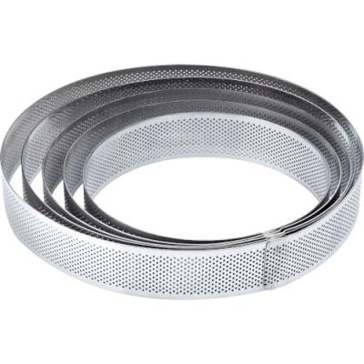 Кольцо перфорированное для тартов и тарталеток  диаметр 8 см, высота 2 см, нержавеющая сталь