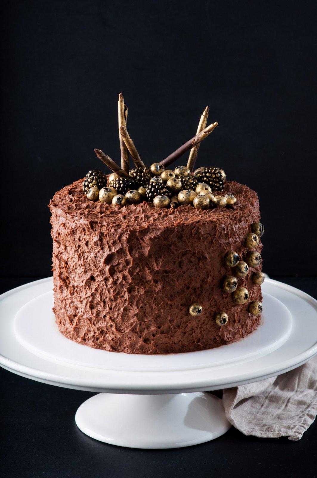 Взбитый ганаш на тёмном шоколаде
