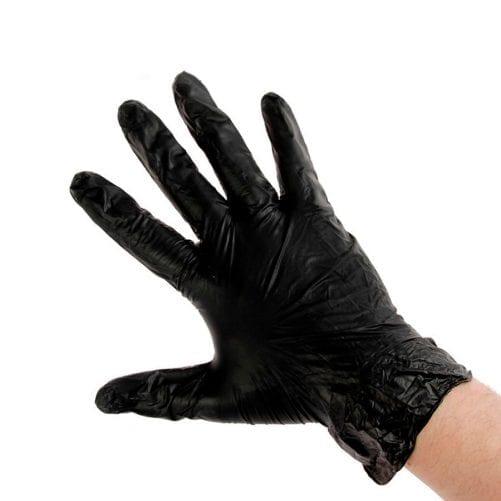 Перчатки виниловые (чёрные)