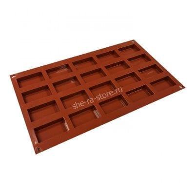 Силиконовая форма для муссовых пирожных и шоколада (Прямоугольник)
