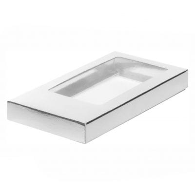 Коробка для шоколадной плитки (серебро)