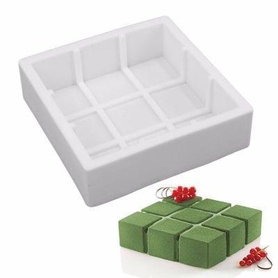 Форма силиконовая для евротортов Кубик (Квадраты)