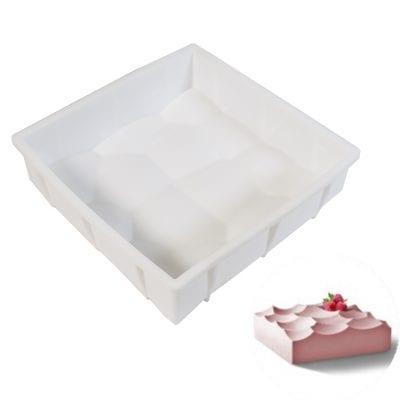 Форма силиконовая для евротортов Кубик (Волны)