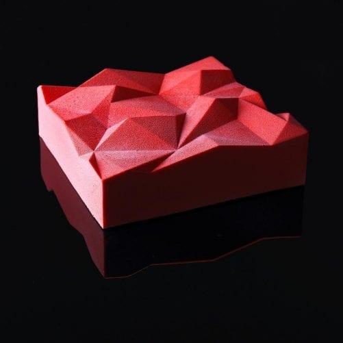 Форма силиконовая для евротортов Кубик (Горы)
