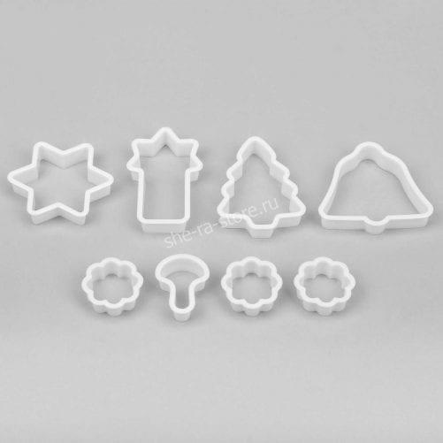 """Набор пластиковых форм для печенья """"Звезда"""", 3 шт"""
