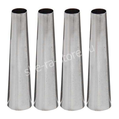 Набор конических форм для выпечки канноли и круассанов, нержавеющая сталь