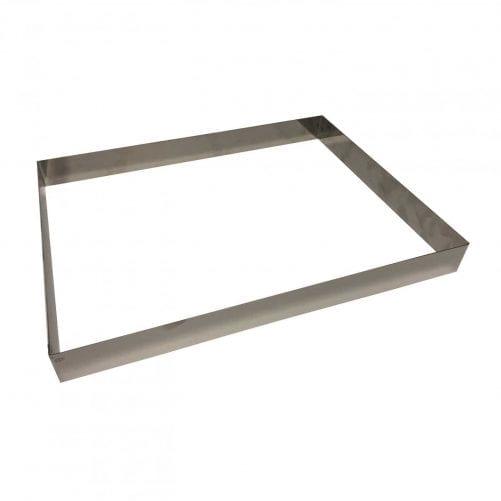 Форма для выпечки Прямоугольник 40 см х 30 см, высота 4 см, нержавеющая сталь
