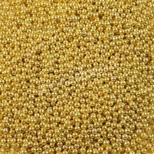 """Посыпка """"Сахарные шарики"""" золото 3 мм"""