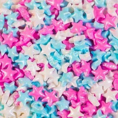 """Посыпка микс """"Звёзды"""" белые, розовые, голубые"""