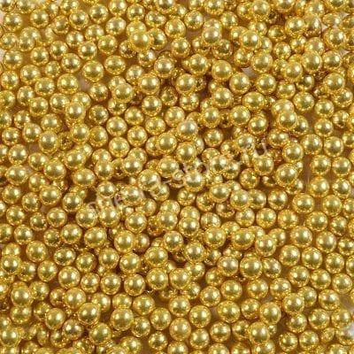 """Посыпка """"Сахарные шарики"""" золото 5 мм"""