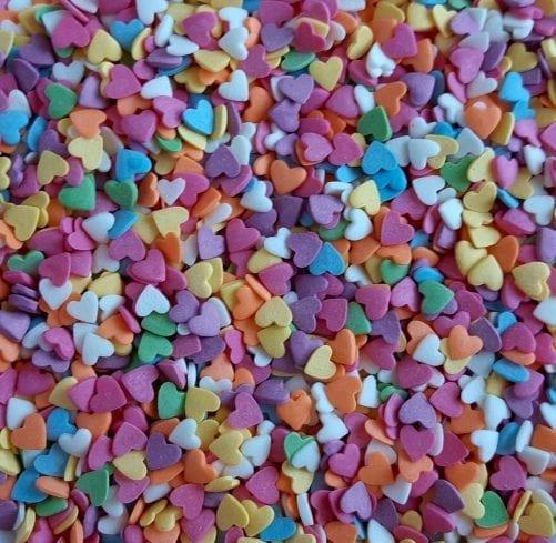 """Посыпка """"Сердечки разноцветные"""""""