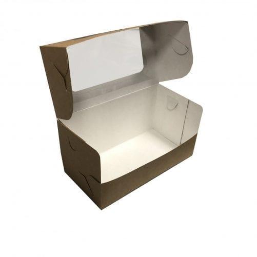 Коробка для кекса с окном