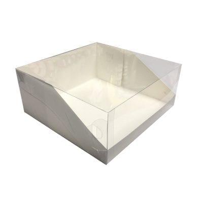 Коробка под торт с прозрачной крышкой