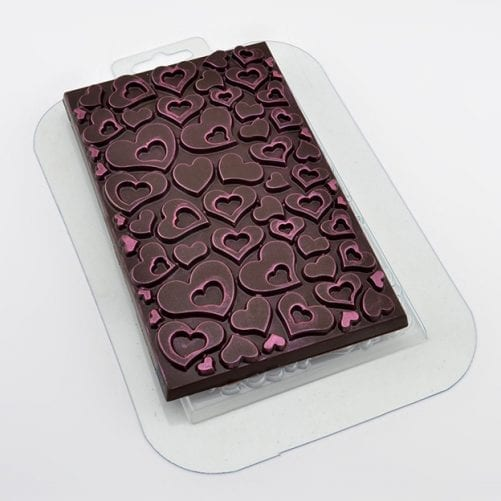 """Форма для шоколадной плитки """"Сердечки"""""""