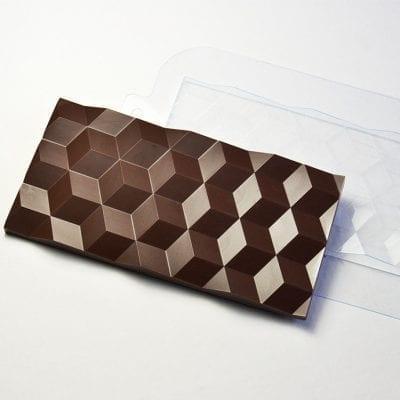 """Форма для шоколадной плитки """"Кубики"""""""