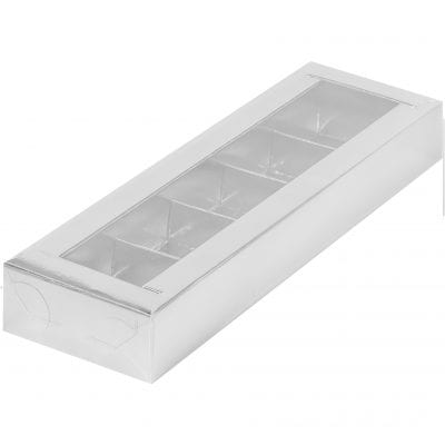 Коробка для конфет с пластиковой крышкой