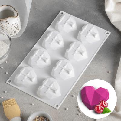 Силиконовая форма 3D сердечки