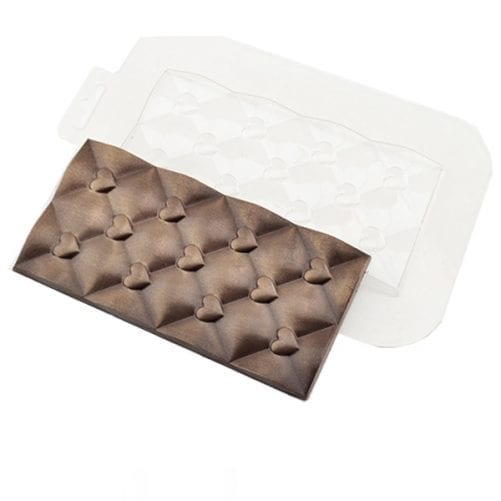 Форма для шоколада плитка сердечки